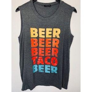 Graphic Tee Sleeveless Top Beer Beer Beer TacoBeer